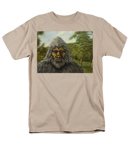 Men's T-Shirt  (Regular Fit) featuring the painting Big Foot In Pennsylvania by James Guentner