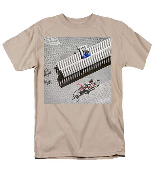 Men's T-Shirt  (Regular Fit) featuring the photograph Bike Break by Keith Armstrong