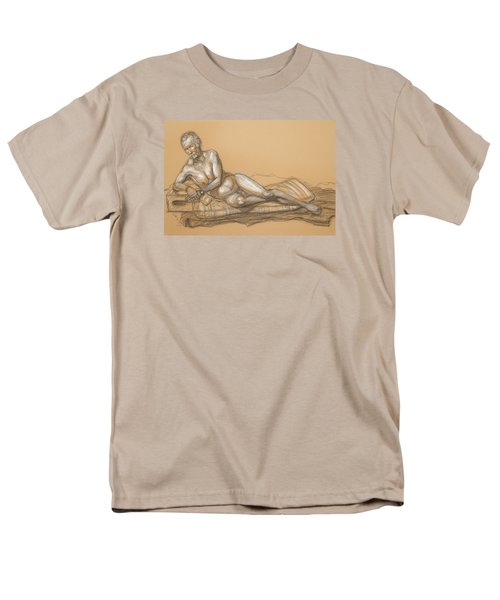 Men's T-Shirt  (Regular Fit) featuring the drawing Bill Reclining by Donelli  DiMaria