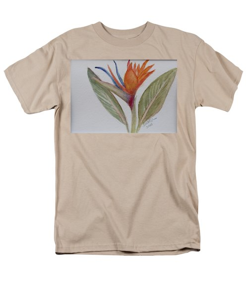 Men's T-Shirt  (Regular Fit) featuring the painting Bird Of Paradise by Donna Walsh