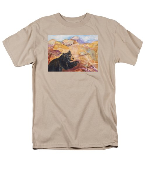 Black Bear Cub Men's T-Shirt  (Regular Fit) by Ellen Levinson