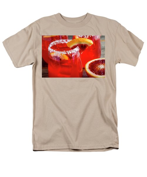 Men's T-Shirt  (Regular Fit) featuring the photograph Blood Orange Margaritas On The Rocks by Teri Virbickis