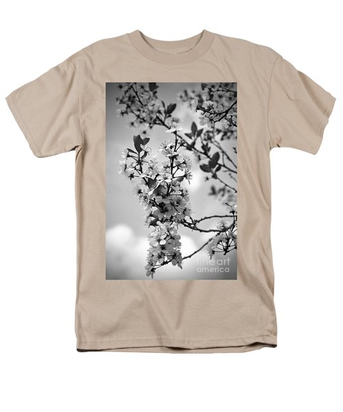 Blossoms In Black And White Men's T-Shirt  (Regular Fit) by Sue Stefanowicz