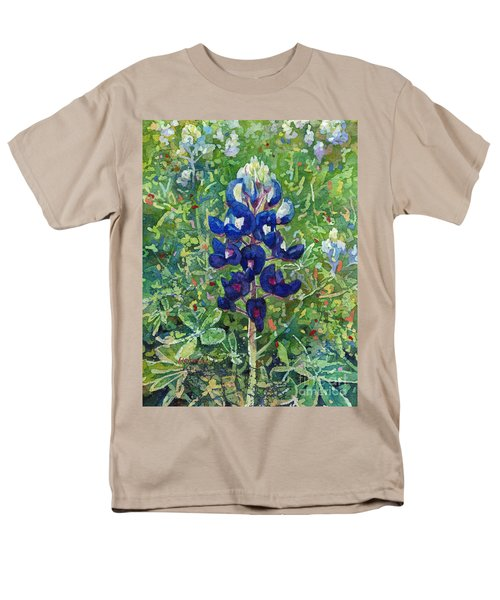 Men's T-Shirt  (Regular Fit) featuring the painting Blue In Bloom 2 by Hailey E Herrera