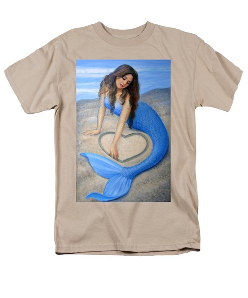 Blue Mermaid's Heart Men's T-Shirt  (Regular Fit) by Sue Halstenberg