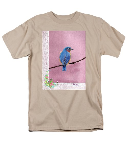 Blue Men's T-Shirt  (Regular Fit) by Mike Ivey