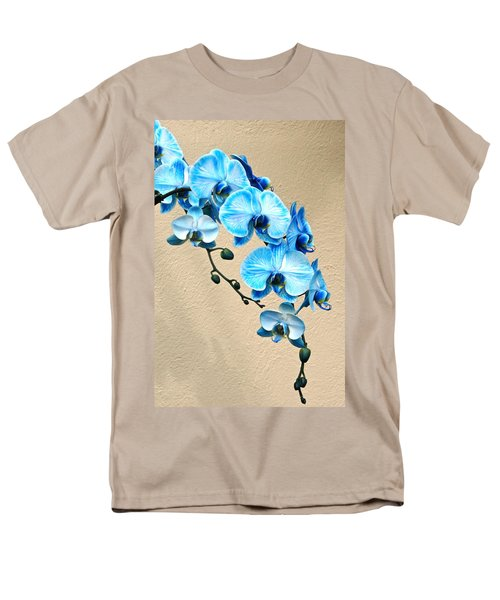 Blue Mystique Orchid Men's T-Shirt  (Regular Fit) by Byron Varvarigos