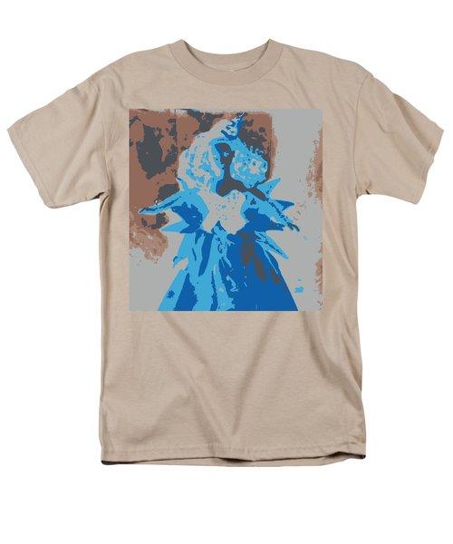 Blue Sunflower Barbie Men's T-Shirt  (Regular Fit) by Karen J Shine