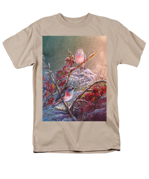 Bluethroat On The Tundra/ #3 Men's T-Shirt  (Regular Fit) by PS Mitchell
