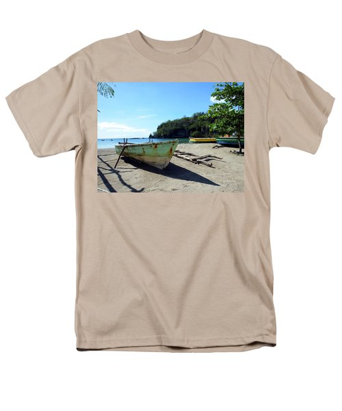 Men's T-Shirt  (Regular Fit) featuring the photograph Boats At La Soufriere, St. Lucia by Kurt Van Wagner