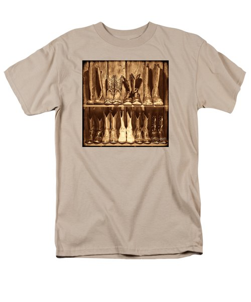 Boot Rack Men's T-Shirt  (Regular Fit) by American West Legend By Olivier Le Queinec