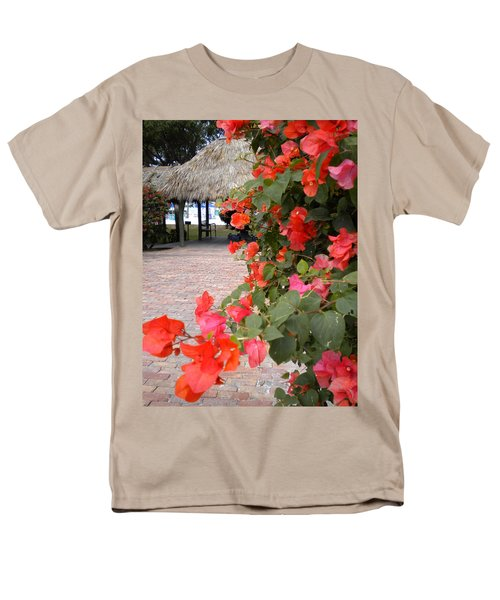 Men's T-Shirt  (Regular Fit) featuring the painting Bouganvilla 2 by Renate Nadi Wesley
