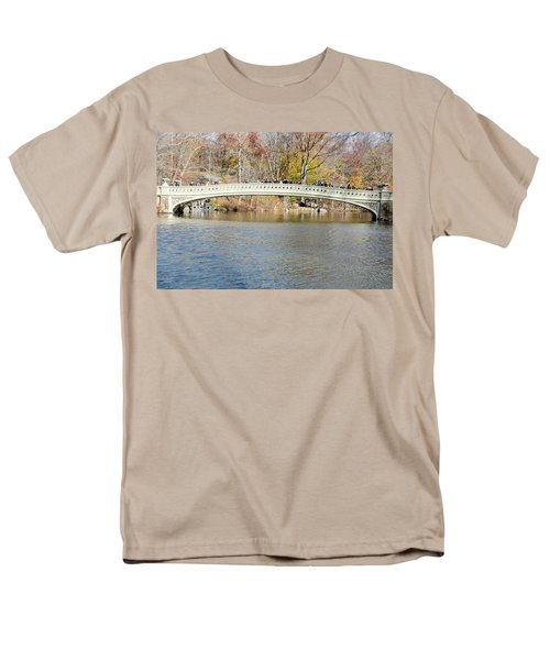 Men's T-Shirt  (Regular Fit) featuring the photograph Bow Bridge With Wedding by Steven Richman