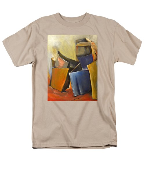 Men's T-Shirt  (Regular Fit) featuring the painting Box Scape by Nadine Dennis