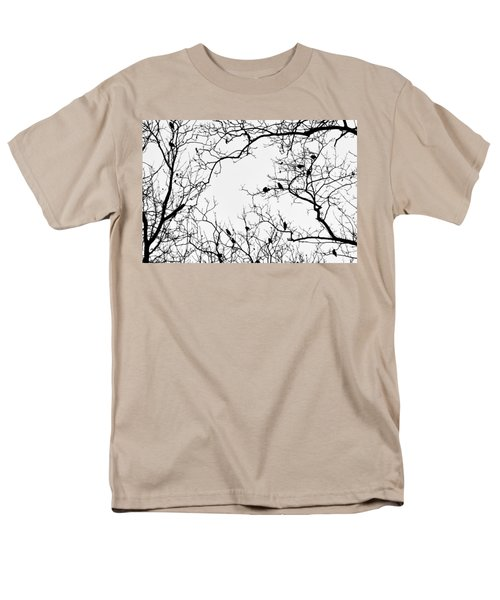 Branches And Birds Men's T-Shirt  (Regular Fit) by Sandy Taylor