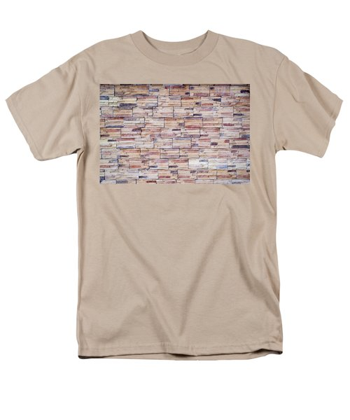 Men's T-Shirt  (Regular Fit) featuring the photograph Brick Tiled Wall by John Williams