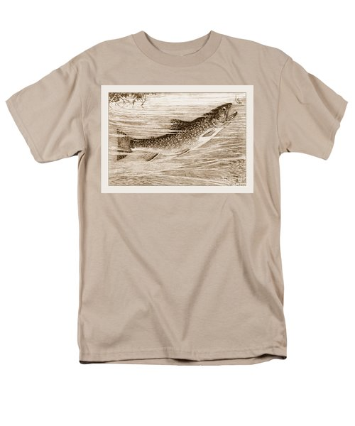Men's T-Shirt  (Regular Fit) featuring the photograph Brook Trout Going After A Fly by John Stephens