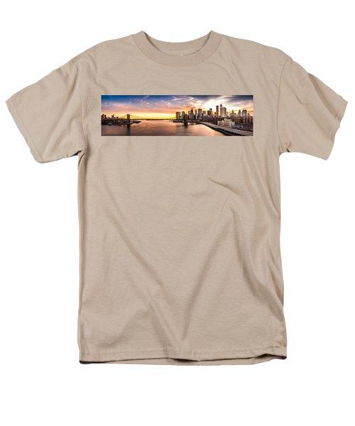 Brooklyn Bridge Panorama Men's T-Shirt  (Regular Fit) by Mihai Andritoiu