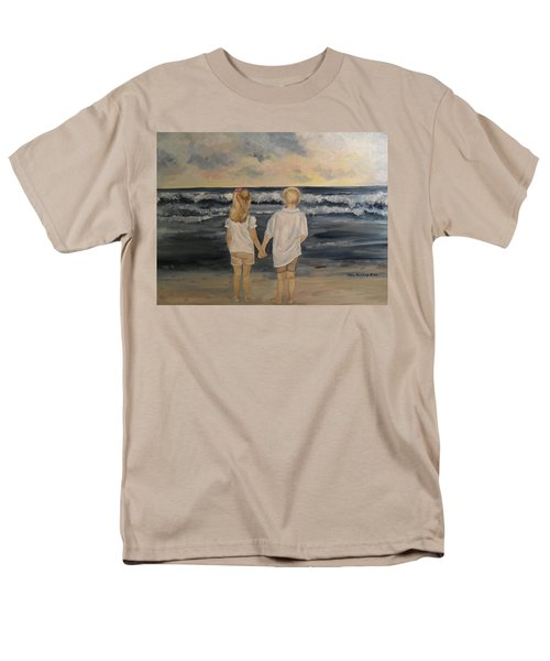 Men's T-Shirt  (Regular Fit) featuring the painting Brother And Sister by Julie Brugh Riffey