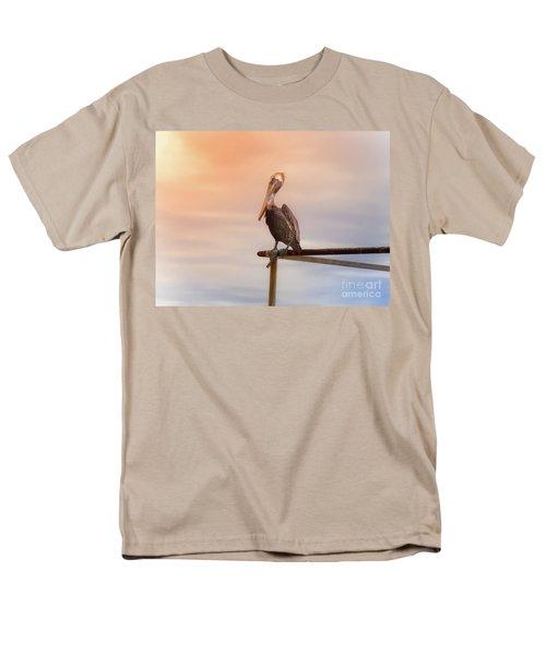 Brown Pelican Sunset Men's T-Shirt  (Regular Fit) by Robert Frederick