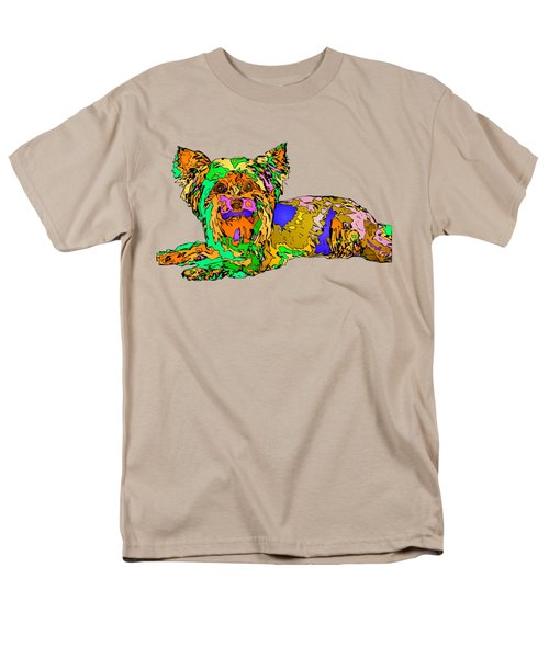 Buddy. Pet Series Men's T-Shirt  (Regular Fit) by Rafael Salazar