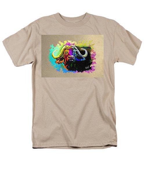 Men's T-Shirt  (Regular Fit) featuring the painting Buffalo Boss by Anthony Mwangi