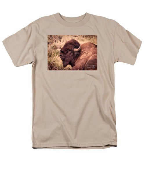 Men's T-Shirt  (Regular Fit) featuring the photograph Buffalo Eye On You by Janice Rae Pariza