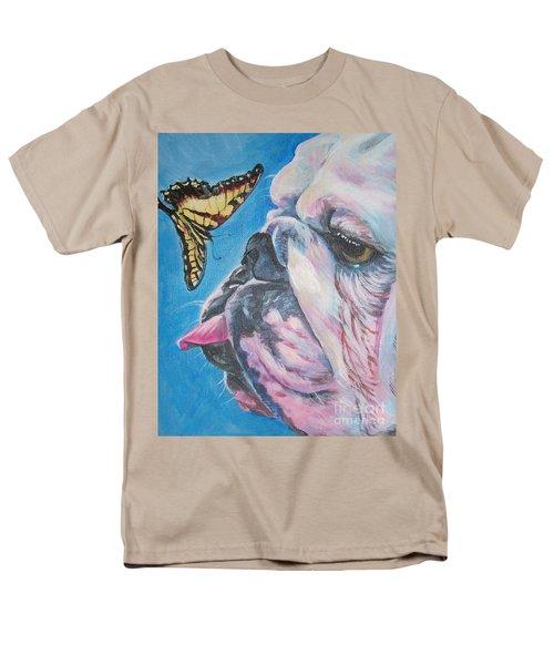 Bulldog And Butterfly Men's T-Shirt  (Regular Fit) by Lee Ann Shepard