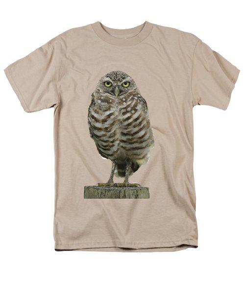 Burrowing Owl Lookout Men's T-Shirt  (Regular Fit) by Bradford Martin