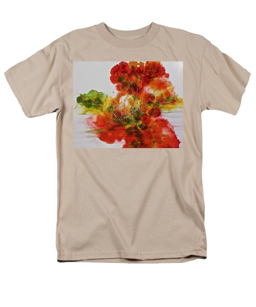Men's T-Shirt  (Regular Fit) featuring the painting Burst Of Nature, II by Carolyn Rosenberger