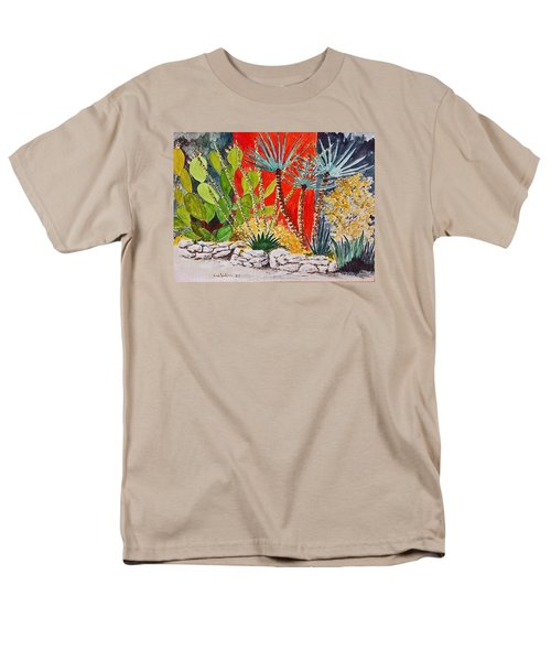 Cactus Garden  Men's T-Shirt  (Regular Fit) by Fred Jinkins