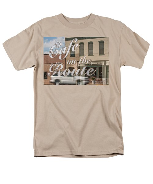 Cafe On The Route Men's T-Shirt  (Regular Fit) by Sue Smith