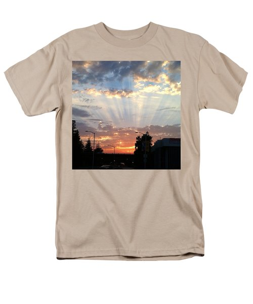 #california #sunset #nature Men's T-Shirt  (Regular Fit) by Jennifer Beaudet