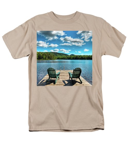 Calm In The Adirondacks Men's T-Shirt  (Regular Fit) by David Patterson
