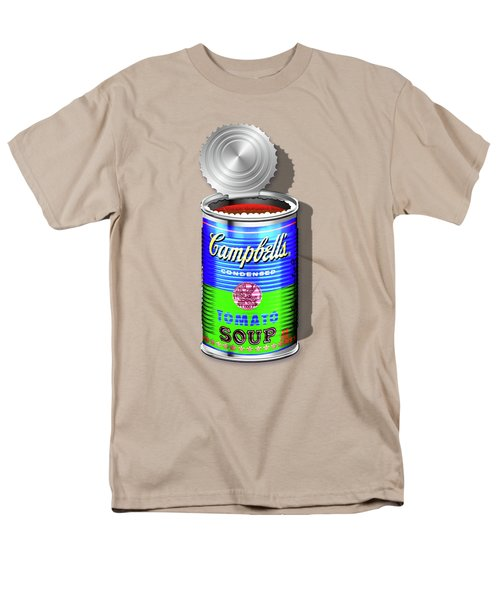Campbell's Soup Revisited - Blue And Green Men's T-Shirt  (Regular Fit) by Serge Averbukh
