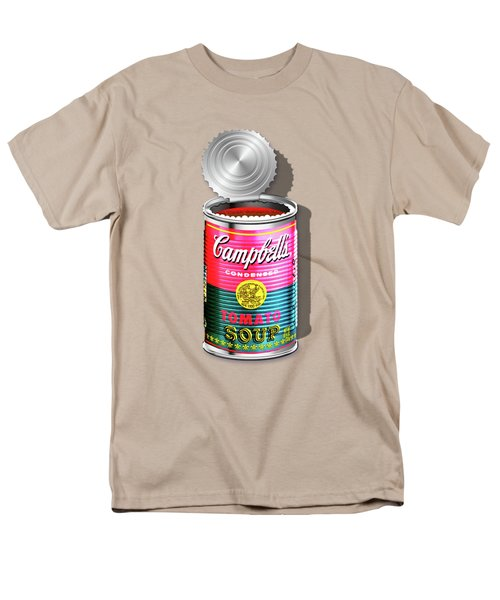 Campbell's Soup Revisited - Pink And Green Men's T-Shirt  (Regular Fit) by Serge Averbukh