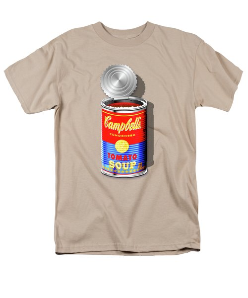 Campbell's Soup Revisited - Red And Blue   Men's T-Shirt  (Regular Fit)
