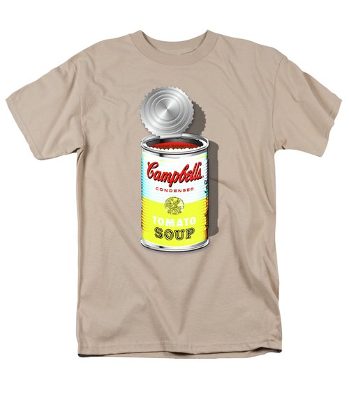 Campbell's Soup Revisited - White And Yellow Men's T-Shirt  (Regular Fit) by Serge Averbukh