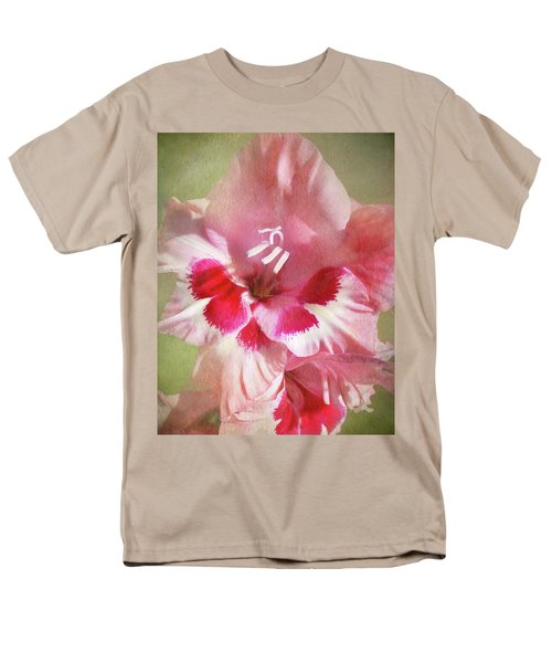 Candy Cane Gladiola Men's T-Shirt  (Regular Fit) by Kathi Mirto