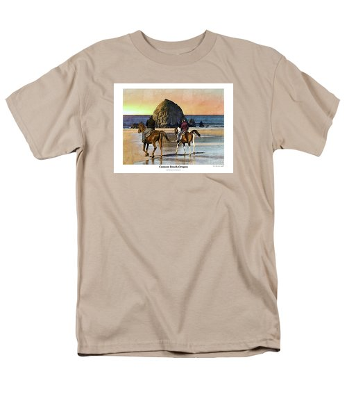 Men's T-Shirt  (Regular Fit) featuring the photograph Cannon Beach by Kenneth De Tore
