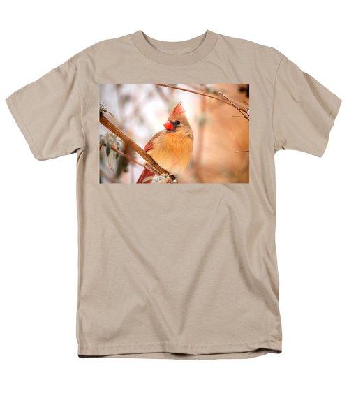 Cardinal Bird Female Men's T-Shirt  (Regular Fit) by Peggy Franz