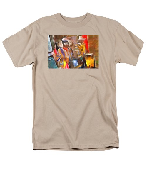 Caribbean Scenes - Pan And Drums Men's T-Shirt  (Regular Fit) by Wayne Pascall