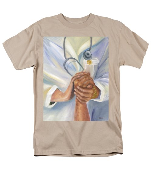 Men's T-Shirt  (Regular Fit) featuring the painting Caring A Tradition Of Nursing by Marlyn Boyd