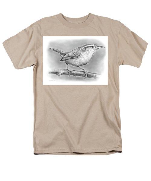 Carolina Wren Men's T-Shirt  (Regular Fit) by Greg Joens