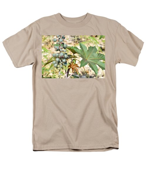 Men's T-Shirt  (Regular Fit) featuring the photograph Castor Oil Plant by Ray Shrewsberry