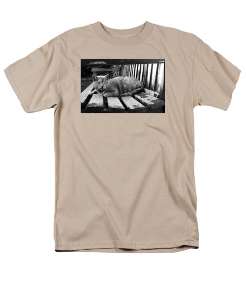 Men's T-Shirt  (Regular Fit) featuring the photograph Cat On A Seat by RKAB Works