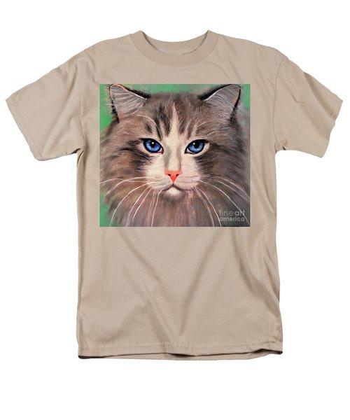 Cat With Blue Eyes Men's T-Shirt  (Regular Fit) by Maja Sokolowska