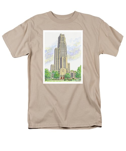 Cathedral Of Learning Men's T-Shirt  (Regular Fit) by Val Miller