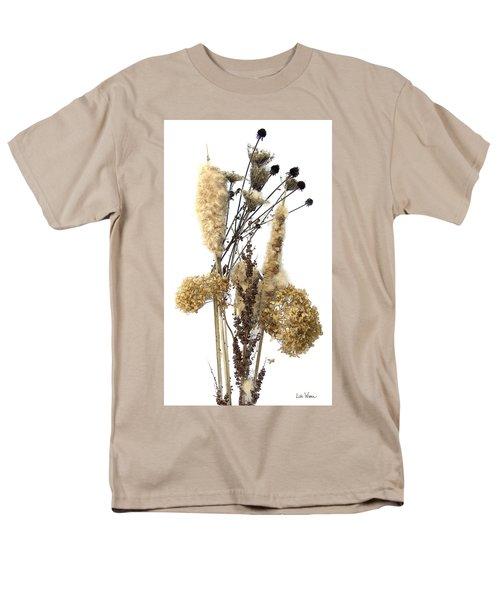 Men's T-Shirt  (Regular Fit) featuring the digital art Cattails And November Flowers II by Lise Winne