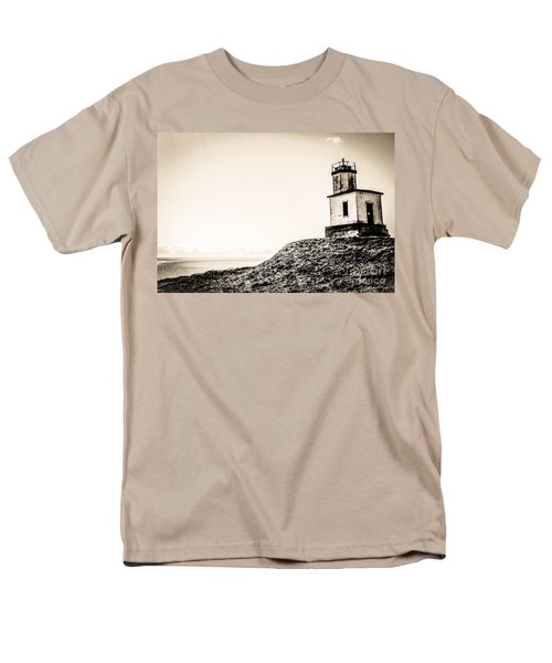 Men's T-Shirt  (Regular Fit) featuring the photograph Cattle Point Lighthouse by William Wyckoff